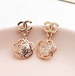 MINI ORDER USD10(MIXED) Free shipping Factory wholesales NEW fashion design jewelry gold plated Zircon stud earrings(China (Mainland))