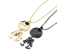 Black Silver Gold Tone UFO Alien Robot Hobberdy Skull Long Chain Necklace Free Shipping 12 pcs/lot
