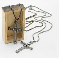 Fashion vintage  cross necklace double layer necklace
