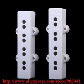 10set*Electric Ja-zz Bass JB Replacement open type Neck Bridge pickup covers set white