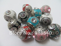 50PCS A lot 20MM  Mixed Color Ancient Vintage  Rhinestone Acrylic Beads  for Chunky Necklace Jewelry