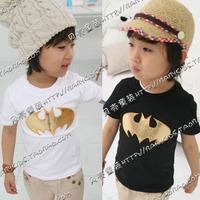 Roupas Meninos Atacado Roupas Infantil Free Shipping New Arrivel Cotton 2014 Summer Bat Clothing Baby Child Short-sleeve T-shirt