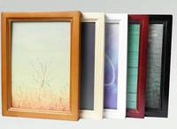 Classical Pinewood picture frame, wooden photo frame