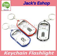 2-in-1 Mini Keychain with White LED Flashlight + Bottle Opener FREE SHIPPING