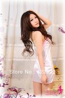 Sexy Lingerie Kimono Dress Dress+G string+Band Set  One Size Sleepwear,Underwear ,Uniform ,Kimono Costume8589-1pcs-white