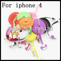 3M Noodles Flat USB Data Sync Cable Charging Cable for iPhone4S 4  100pcs/lot