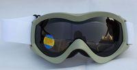 Free Shipping Double PC Lens Polarized Anti Fog Windproof Ski Goggles UV400 Protection Europe white Blet Snow Glasses  Men Women