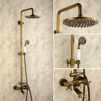free shipping Vintage fashion antique shower set copper shower lift out shower nozzle antique brass