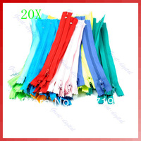Free Shipping 20pcs/lot Color Nylon Coil Zippers Tailor Sewer Craft 9 Inch
