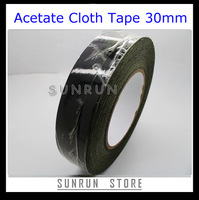 Free Shipping Acetate Cloth Tape 30mm x 30m Hot Melt Tape Insulation Tape