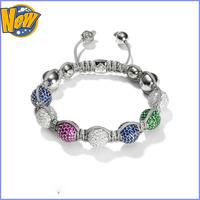 2013 newest free shipping shamballa bracelet wholesale fashion jewelry new style low factory price new style sliver