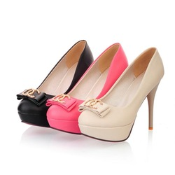 Sexy fashion t 2013 ultra thin heels high heels platform model plus size shoesC3822(China (Mainland))
