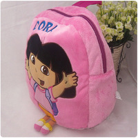 Free Shipping Dora the Explorer Plush School Bag Backpack 12'' Brand New Wholesale