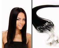 Virgin Brazilian20''-26''Human Hair Extension Micro Loop 1g/s #1B Natural Black