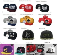 Wholesale TEAM LIFE Monkey Skull Snapback hat Trukfit  Snapbacks caps Dimond hat  TOY  HYPE Wreckless Mixed Order