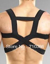 10pcs/lot Best selling! New Back Shoulder Support Protector Back Brace Men Corrector Posture Belt Free shipping