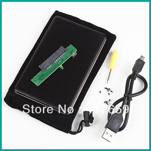 1pcs 2.5 inch SATA HDD Box USB 2.0 HDD Hard Drive Disk SATA External Storage Enclosure Box Case Drop Shipping W