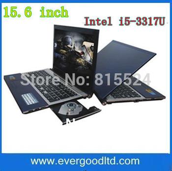 Free Shipping 15.6 inch Laptop Intel i5-3317U Dual-core Notebook Computer Windows XP Windows 7 DVD-RW Built-in WIFI Camera