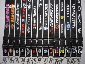 FREE SHIPPING cars Key lanyard auto mobile strap  ID holders for collection Mix order