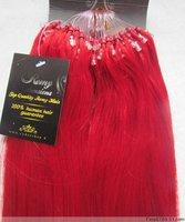 20''-26'' Blended WomenHair Extension Micro Loop 1g/s #Red