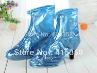 1 pair Women's lady girl PVC Waterproof Rain Boots Shoes Covers high heel Covers Zipper Up Overshoe Reusable