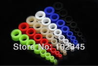 Silicone Ear Flesh tunnel Plugs Mixed color 2g-20mm body jewelry 192pcs/lot