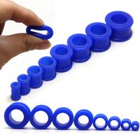 Blue color silicon flesh tunnels 160pcs/lot