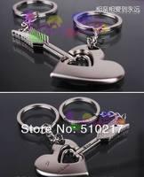 54pcs free ship Alloy Cupid Arrow keychain creative couple lovers key ring advertising gift key chain can custom logo