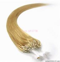 Virgin Brazilian20''-26''Human Hair Extension Micro Loop 1g/s #24 Golden Blonde