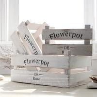 Mediterranean rural wind decorated flowerpot flower implement barrier tape, European white do old box