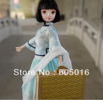 29CM Tall  Republic of China Girls Style Elegant Kurhn Bobby Doll, Gift Set Toy Model Free Shipping