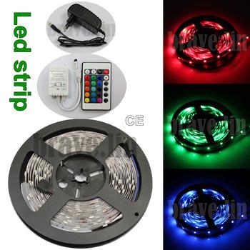 US/EU/AU/Plug 5M 3528 Non-Waterproof SMD LED Flexible Strip 300 leds 500cm With Power adapter