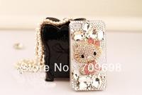 3D Bling Crystal Hello Kitty DIY Mobile Phone Case Deco Den Kit