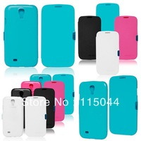 10pcs/LOT New Arrival For Samsung Galaxy SIIII S4 i9500 fashion protective case leather case cover skin free shipping