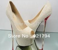 New fashion women's high heels  Gold trend Yuzui shoes European and American classic wedding shoes  Dress shoes Free shipping