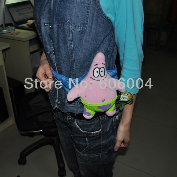 Free Shipping Cute SpongeBob Patrick Camouflage Fanny Pack Waist Hip Bag Wholesale And Retail(China (Mainland))
