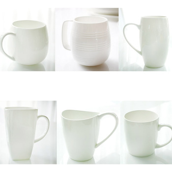 Ordovician white porcelain kupper bone china cups cup milk cup breakfast mug cup large capacity