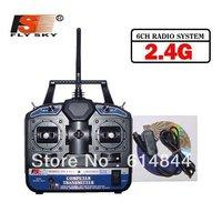 Free shipping-Fly Sky FS-CT6B rc transmitter 2.4G 6CH Radio ( TX FS-CT6B + RX FS-R6B)
