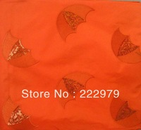 Free shipping- African high quality scarf,GELE, regular headtie,embroidery headtie with sequins in Orange