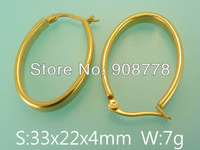 Free shipping wholesale stainless steel jewelry fashion hoope earrings E4E4122