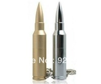 Hot sale! Free shipping Brand New Bullet Shape USB2.0 8GB High Speed USB Flash Drive,Gold and Silver