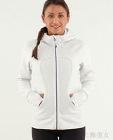 Free shipping lulu hoodies scuba hoodies Lady Sport  Athletic Jacket yoga coat Women's sweater white black brown orange yellow