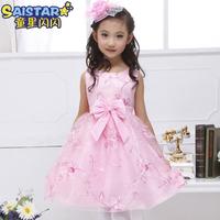 New 2014 summer girls dress,flower girl princess  dress girl party dress (size for 3-12 years)
