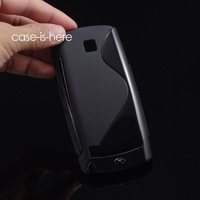 Wholesale 10pcs/Lot Free Shipping Soft S-Line Wave TPU Gel Cover Case Skin for Nokia Asha 303 / 3030