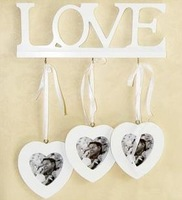 Photo Frame Creative Home Wooden home Wall decoration LOVE Photo Frame Heart to Heart Photo Frame Free shipping