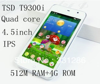 IN STOCK 100% original TSD T5585 Android 4.2.1 system 4.5 touch screen Quad core dual SIM WIFI MTK65893g unlocked phone IN STOCK