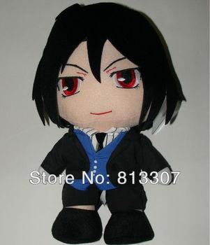 Black Butler Kuroshitsuji  12 inch  Sebastian Cosplay Plush Toy  about 30cm