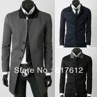 2013 Free shipping new style Blazer Men Leisure suits coat Contrast color brought Medium style Fly opening Man suit jacket XXL
