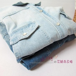 FREE SHIPPING Classic all-match . high quality water wash worn denim shirt thick shirt(China (Mainland))