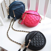2014 Free Shipping Women's Fashion PVC Small Circle Shoulder Strap Chain Bag, Girl's Cross bag purse wallet,womans bags